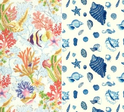 Fabrics From Seashell To Beach To Nautical Coastal
