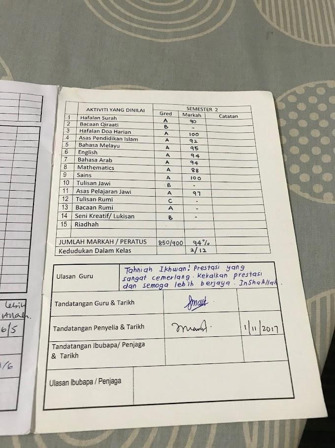 Result Exam Anak