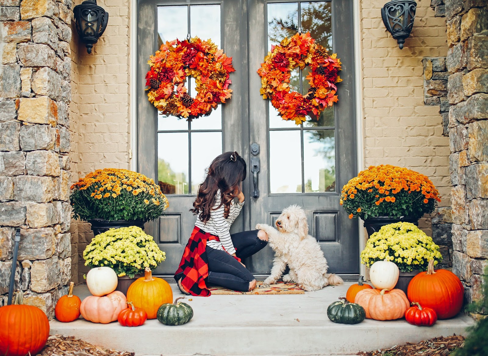Our Fall Front Porch Decor The Sweetest Thing