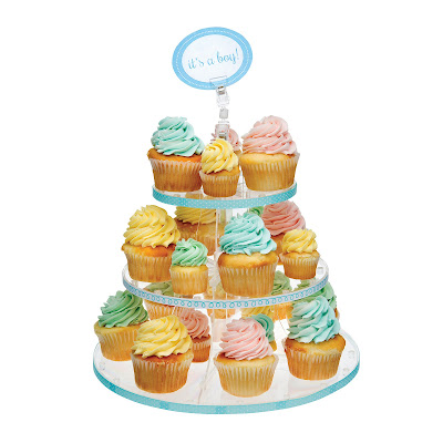 Deflecto 3-Tiered Cupcake Stand