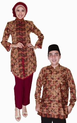 Kumpulan Model Baju Muslim Batik Couple Modern Terbaru 2020