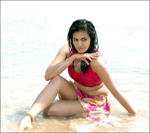 Wet Anuradha Mehta At Beach Stills