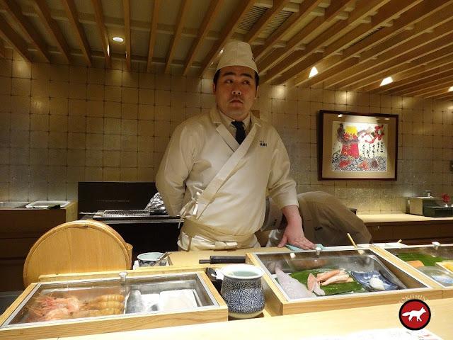 Maître sushi de Hokkaido