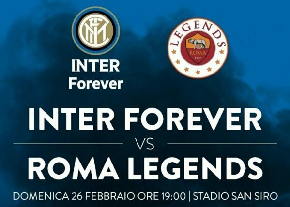 Sfida nella sfida tra Inter Forever e le Roma Legends