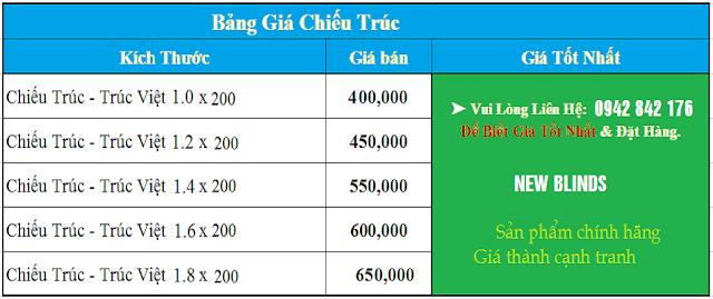 bảng giá chiếu trúc hcm