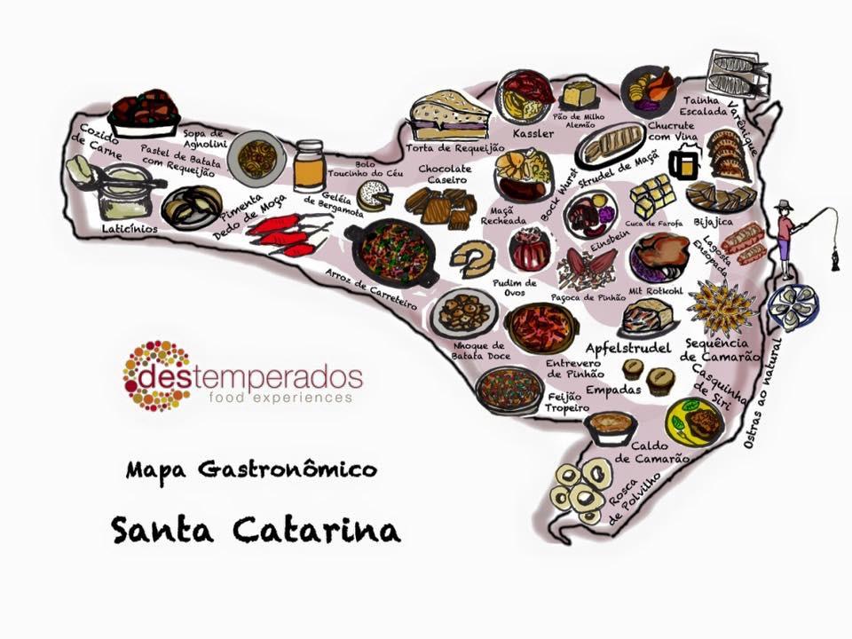 Mapa Gastronômico de Santa Catarina