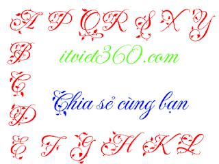 Font UTM Fleur - Cách viết chữ tiếng Việt cực đẹp trên máy tính