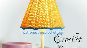 Pantalla para lámpara al crochet / Paso a paso