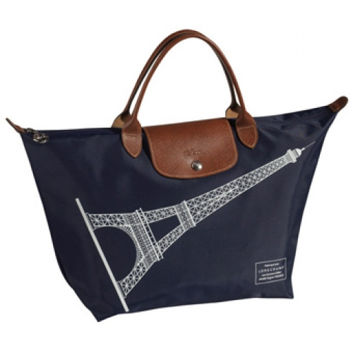 9dcf908a8999 Longchamp Le Pliage (Eiffel Tower) Medium with Short Handle Color   Navy  Price   RM500