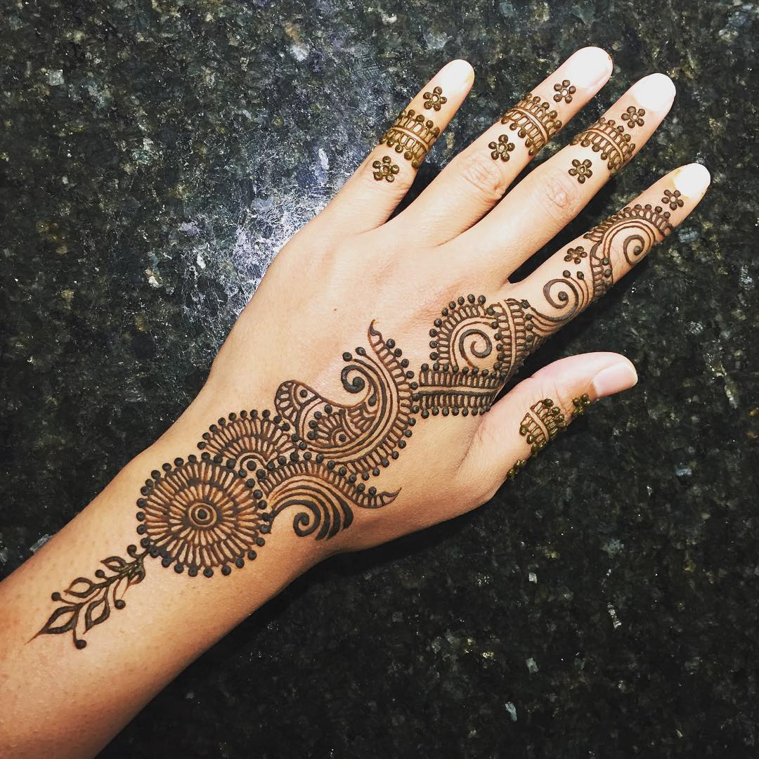 Mehndi Hairstyles Uk : New simple mehndi henna designs for hands buzzpk