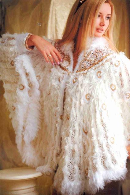 Patrón #1433: Chal Pavo Real a Crochet