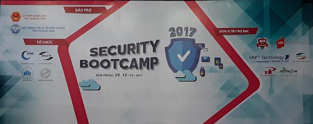 Bài trình bày tại Security Bootcamp 2017 tại Nha Trang