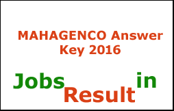 MAHAGENCO Answer Key 2016