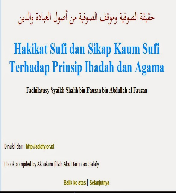 DOWNLOAD EBOOK HAKIKAT ALIRAN TASSAWUF ATAU SUFI