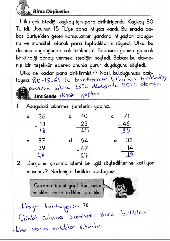 2. Sınıf Başak Yayınları Matematik 76. Sayfa Cevapları