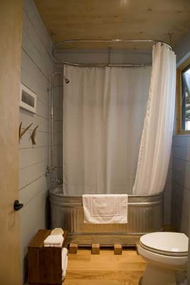 Horse Trough Garden And Bathtub Shower Content In A Cottage