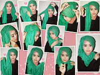Tutorial Hijab Paris yang Unik