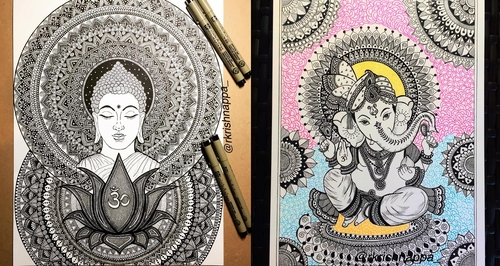00-Rashmi-Krishnappa-Calm-and-Serenity-in-Balanced-Pen-drawings-www-designstack-co