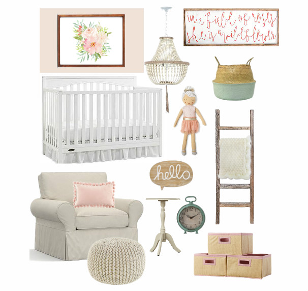 Nursery Mood Board Blush Pink Nursery For Baby Girl