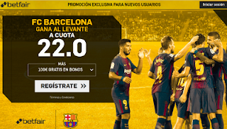 betfair supercuota Barcelona gana a Levante 13 mayo