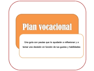 PLAN VOCACIONAL