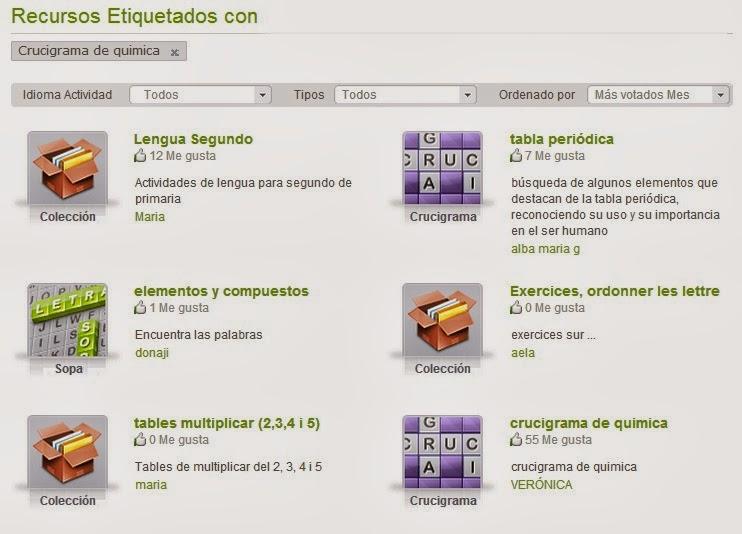 Ciencias fsico qumicas juegos varios de qumicaucigramas juegos interactivos on line para aprender jugando urtaz Choice Image