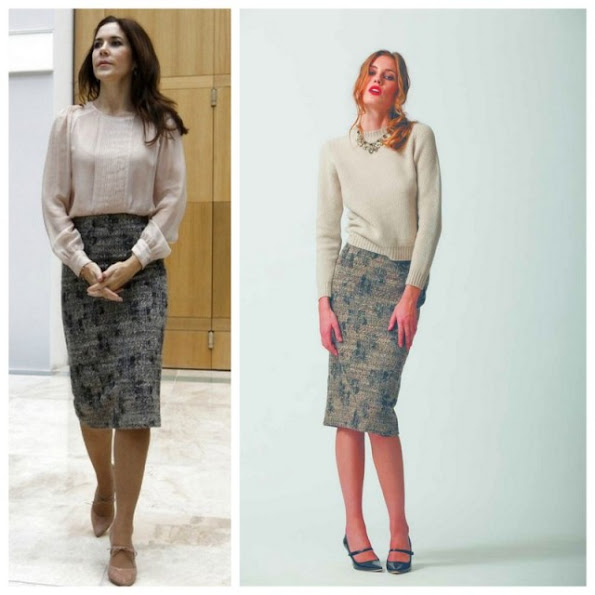 Danish Crown Princess Mary wore Elise Gug Skirt