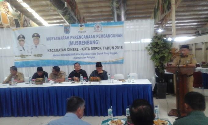 Musrenbang Kecamatan Cinere Fokus Pembangunan Infrastruktur