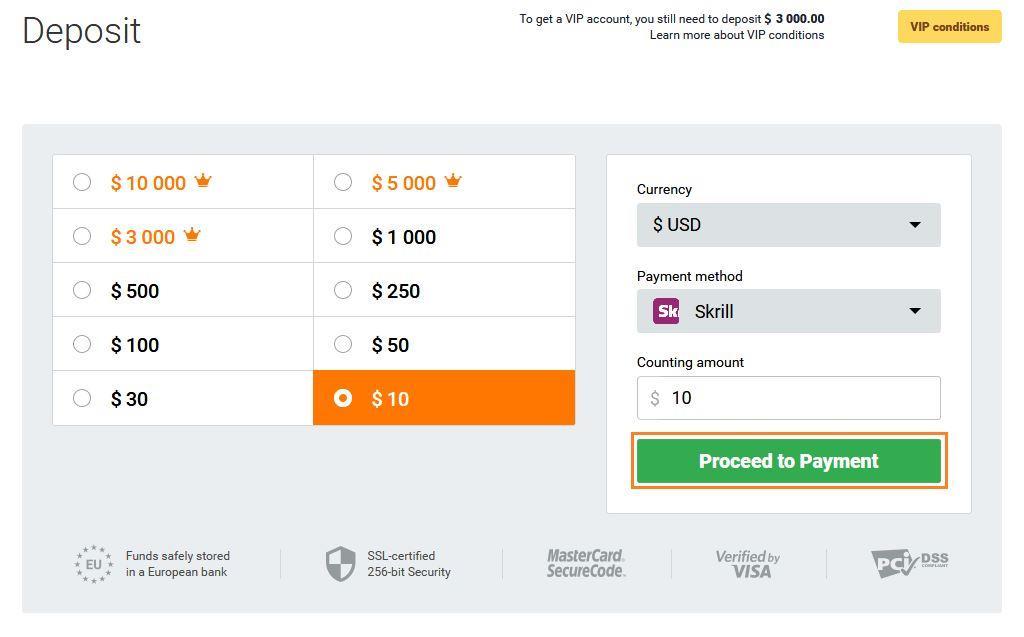 Cara Deposit uang IQ Option