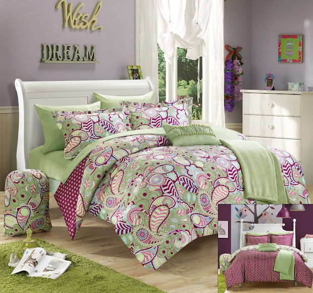 Purple and Green Comforter Sets