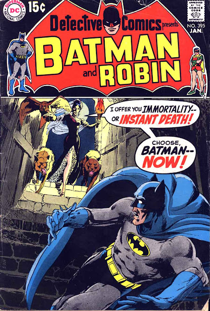 Detective Comics #395 dc Batman comic book cover art by Neal Adams
