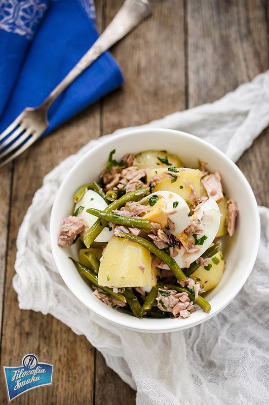 Sałatka z ziemniaków i tuńczyka