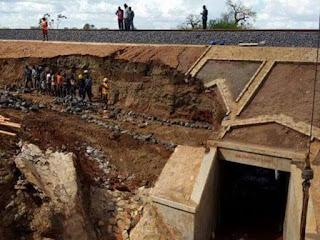 A section of SGR breaks down in Makueni.