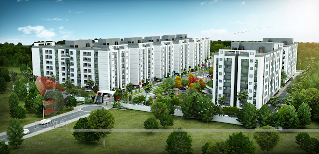 3D Residential Township Rendering