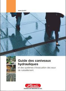guide des caniveaux hydrauliques