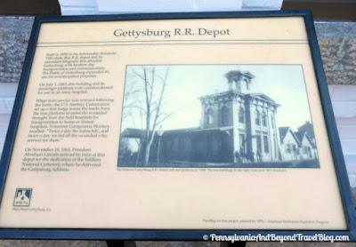 Gettysburg Railroad Station Historical Marker in Gettysburg Pennsylvania