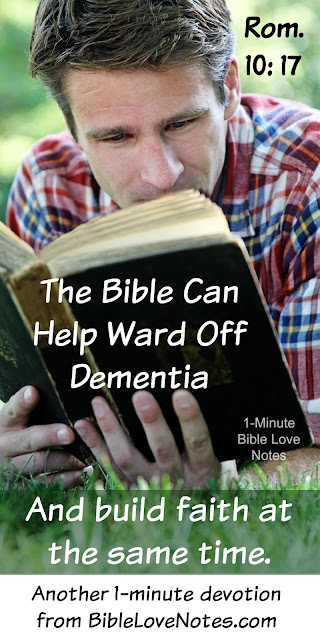 Bible Reading, Dementia, Reading Can Help Ward off Dementia