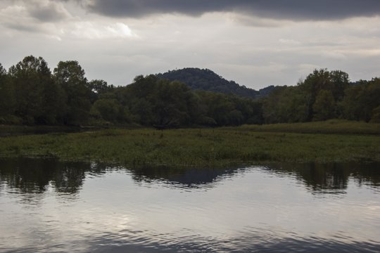 Rainstorm approaching on the Caney Fork River