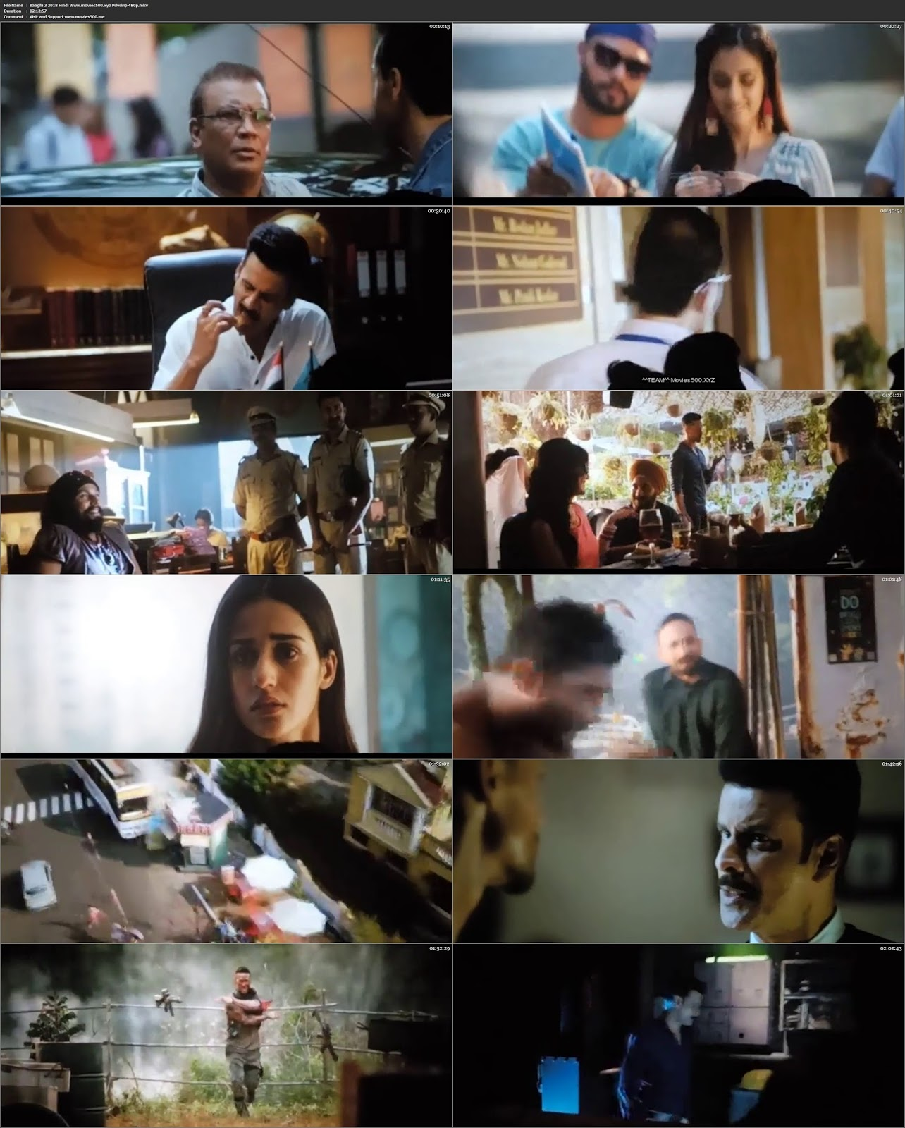 BAAGHI 2 (2018) Bollywood 300MB HD CAM 480p