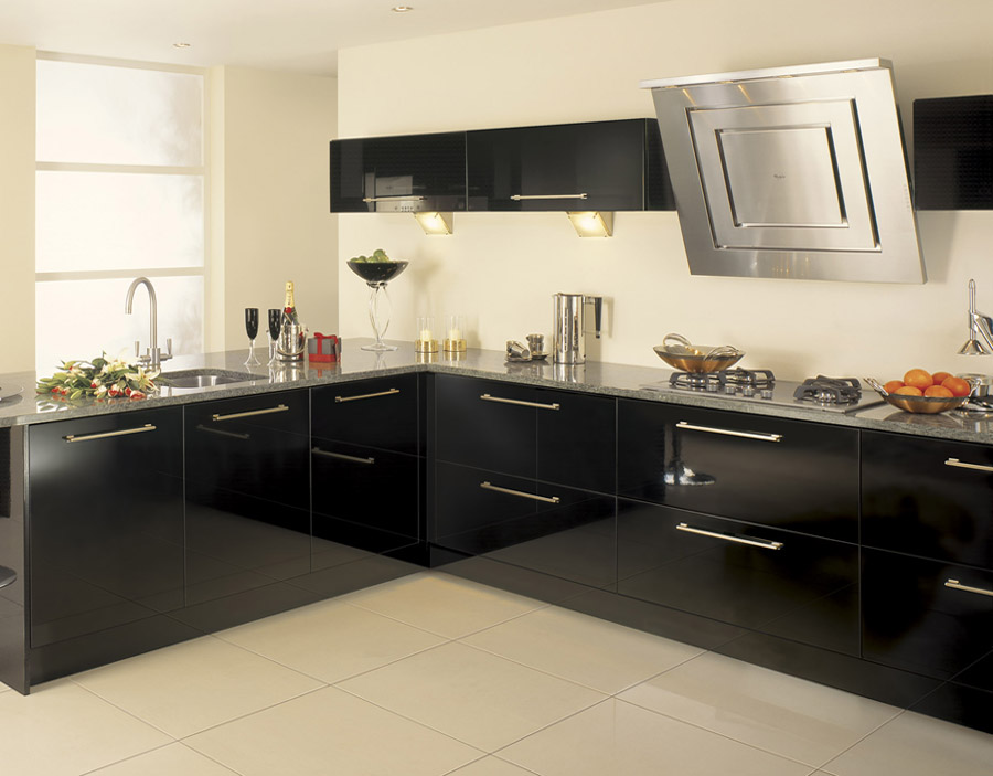black high gloss kitchen cabinets black gloss furniture home design elements 803