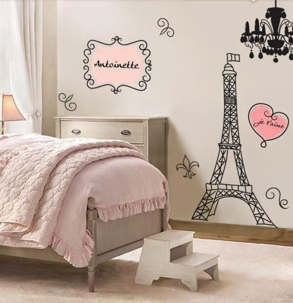 cuarto para chica negro rosa