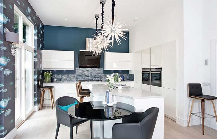 modern mutfak duvar kağıdı modeli