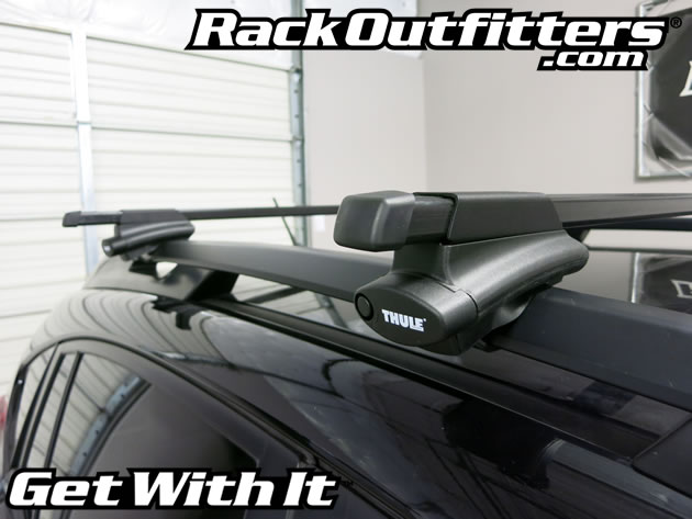 Subaru Xv Crosstrek Thule Crossroad Square Bar Roof Rack