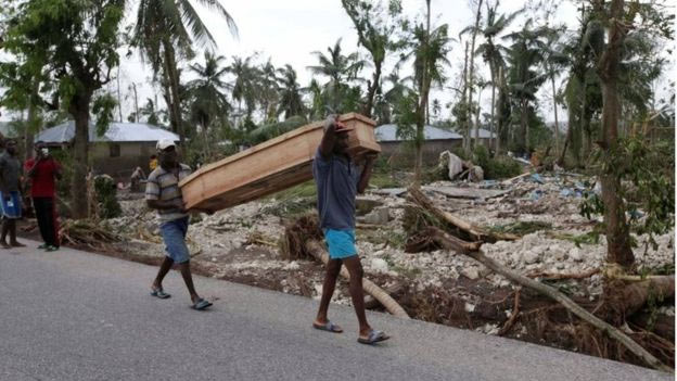 Over 800 people die as Hurricane Matthew hits Haiti, others