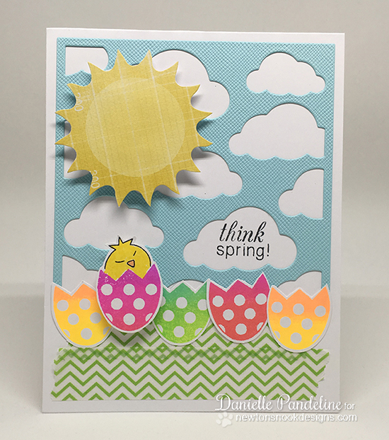 Neon Spring Eggs by Danielle Pandeline | Easter Scramble Stamp set by Newton's Nook Designs #newtonsnook