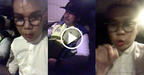 Thumbnail image for (Video) Lelaki Cina Mabuk Rakam Video Hina Polis, Anggota Polis Buat Laporan