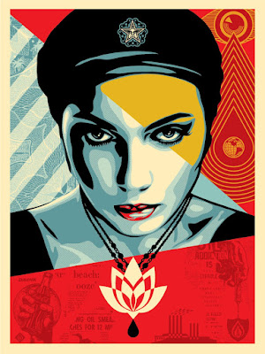 "Obey Giant ""Oil Lotus Woman"" Screen Print by Shepard Fairey"
