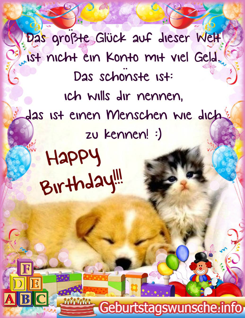 Beau Geburtstagswünsche Für Kinder