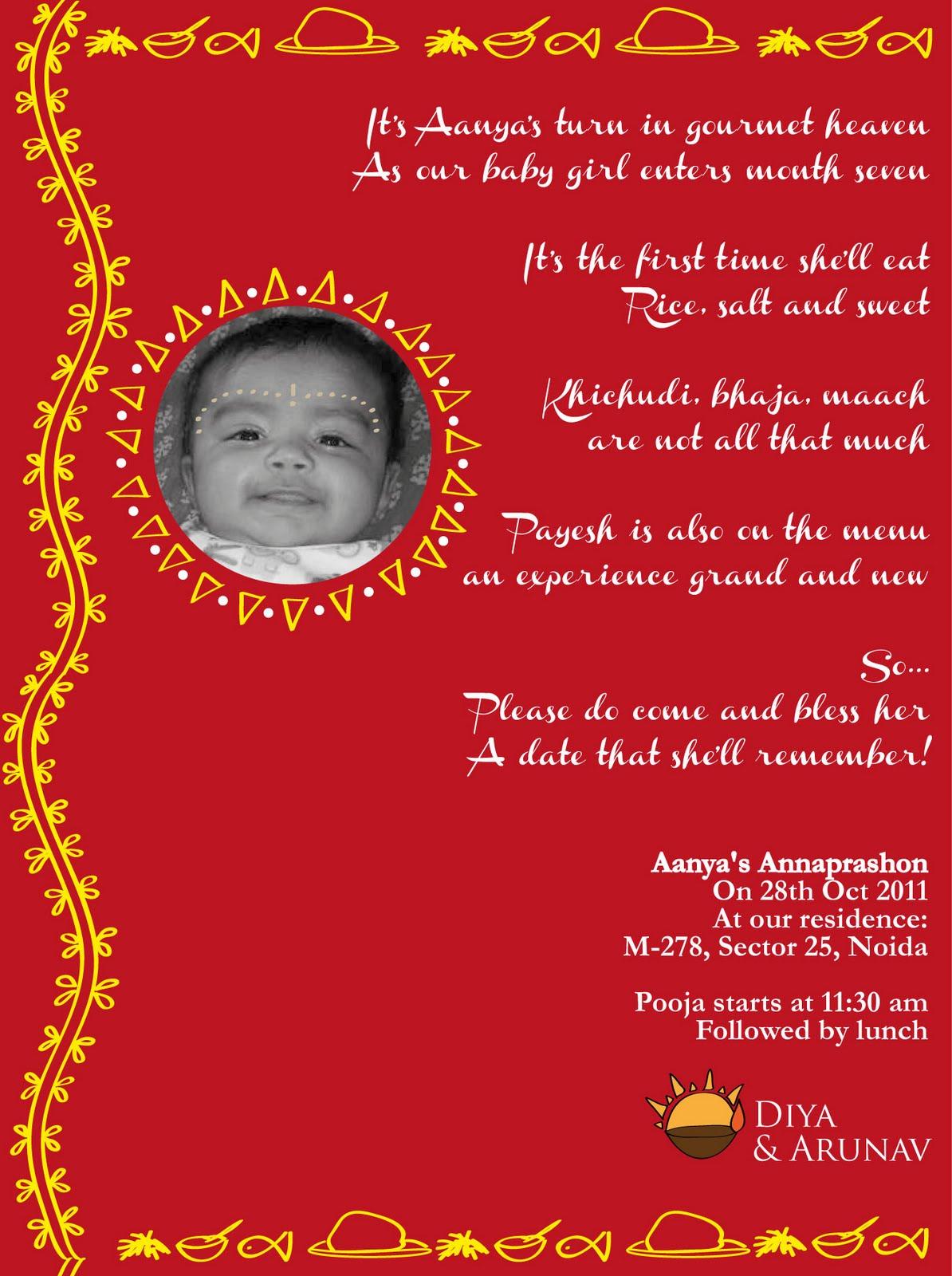 6 Annaprasan Invitation Card Matter In Hindi Hindi Matter