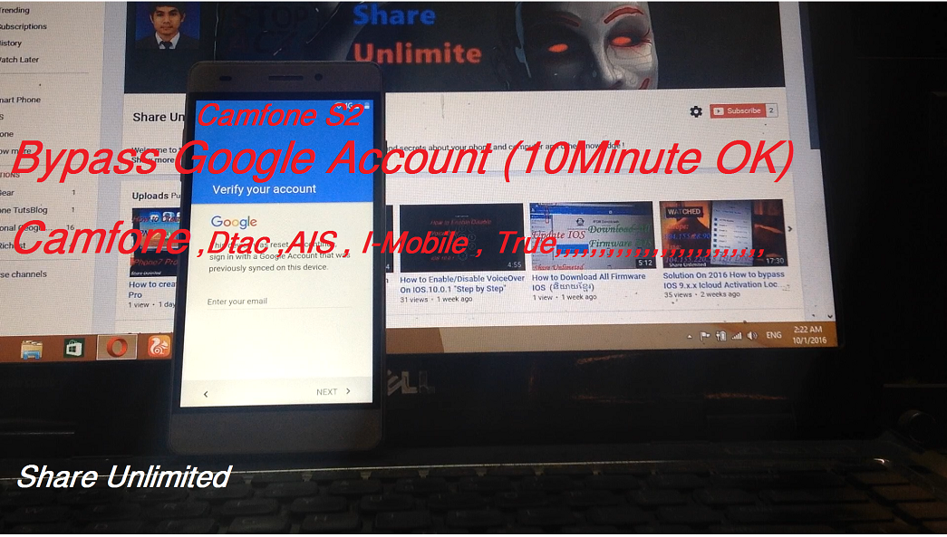 How to Bypass google account camfone s2 - Share Unlimited